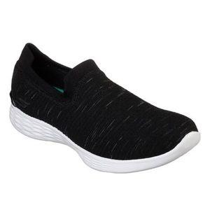 Sketchers You Sneakers - Black/White - size 7